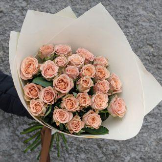25 роз капучино